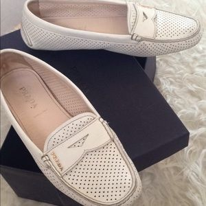 Prada perforated driving loafers 